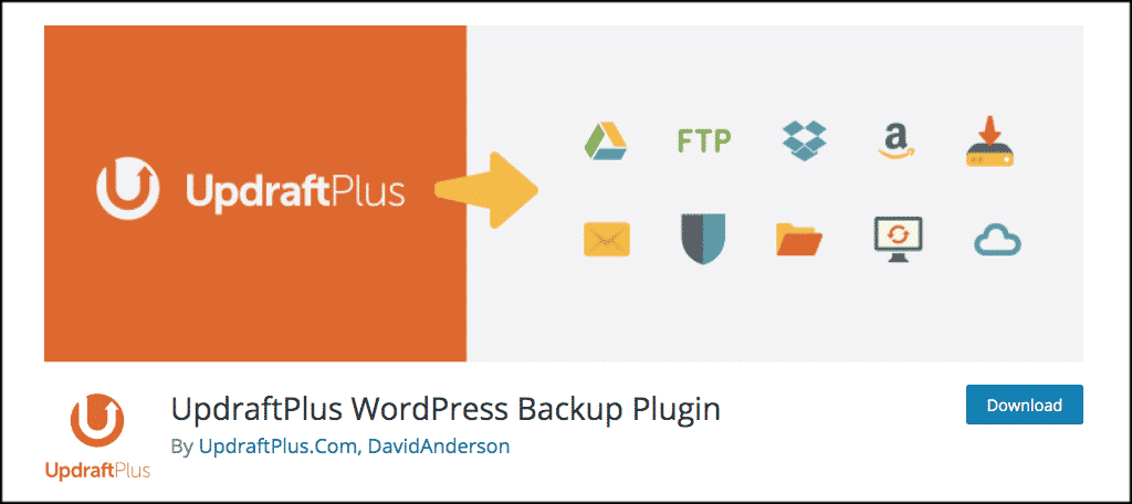 UpdraftPlus tech blog plugin