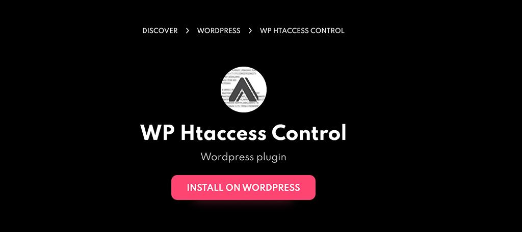 WP htaccess control