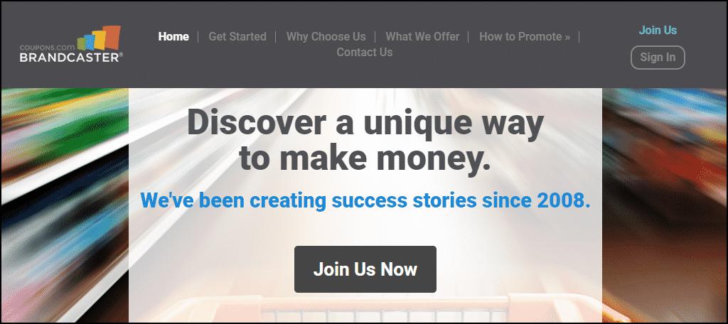 Brandcaster/coupons.com website