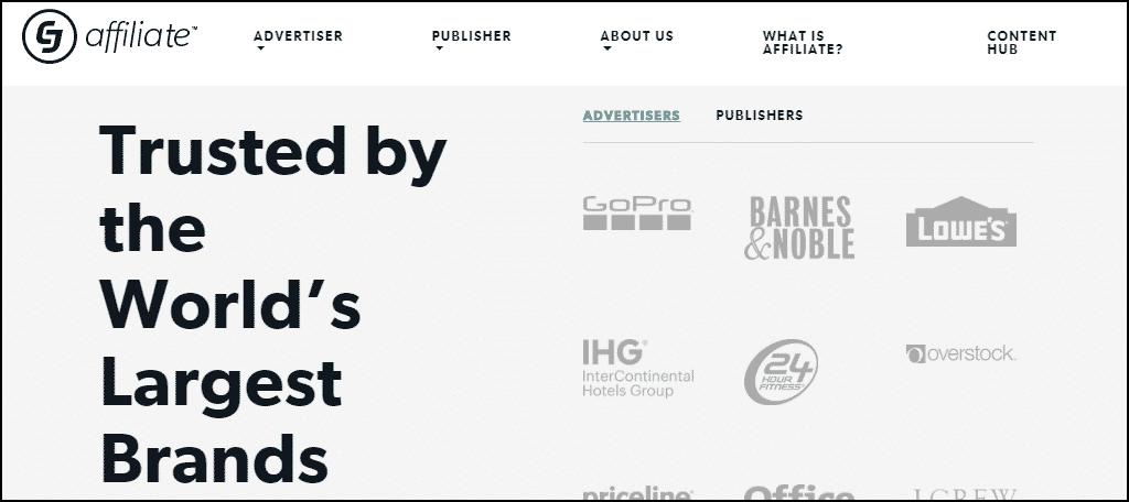 CJ Affiliate website