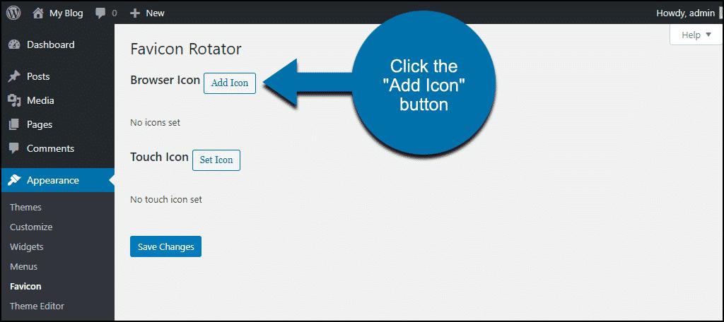 """click the """"Add Icon"""" button"""