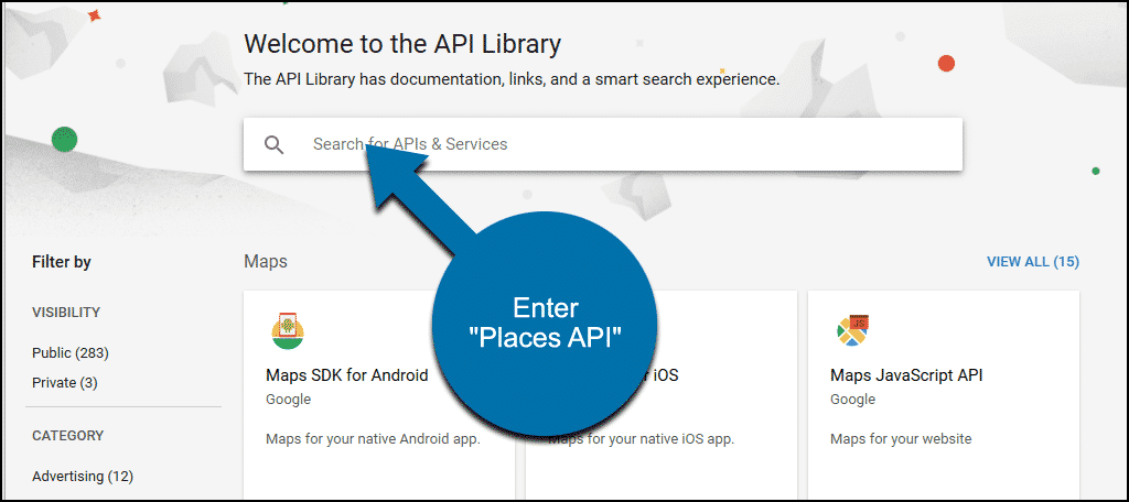 "search for ""Places API"""
