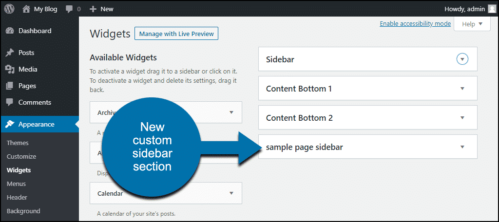 new custom sidebar widgetnew custom sidebar widget