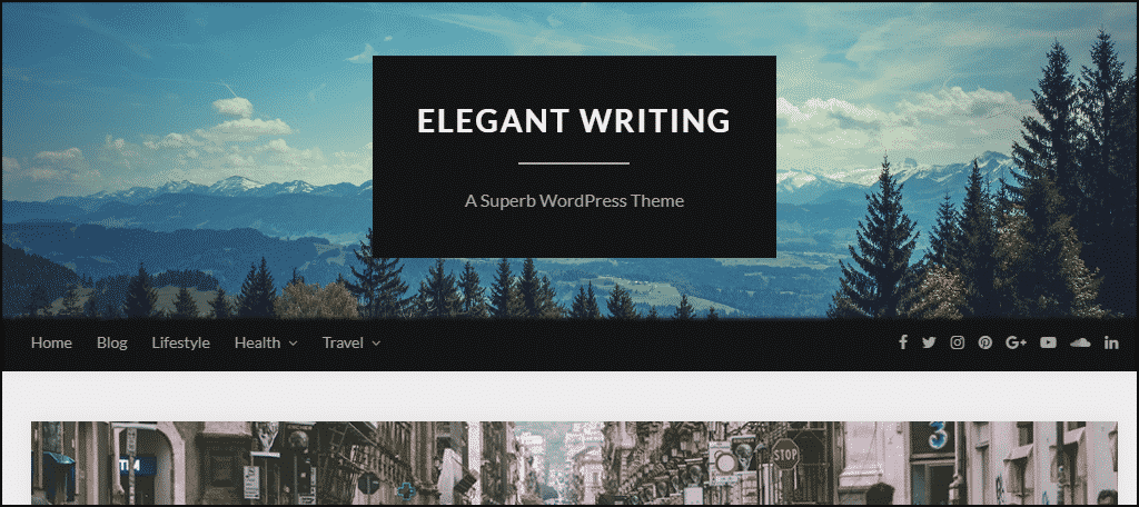 ElegantWriting WordPress theme