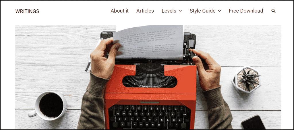 Writings WordPress theme