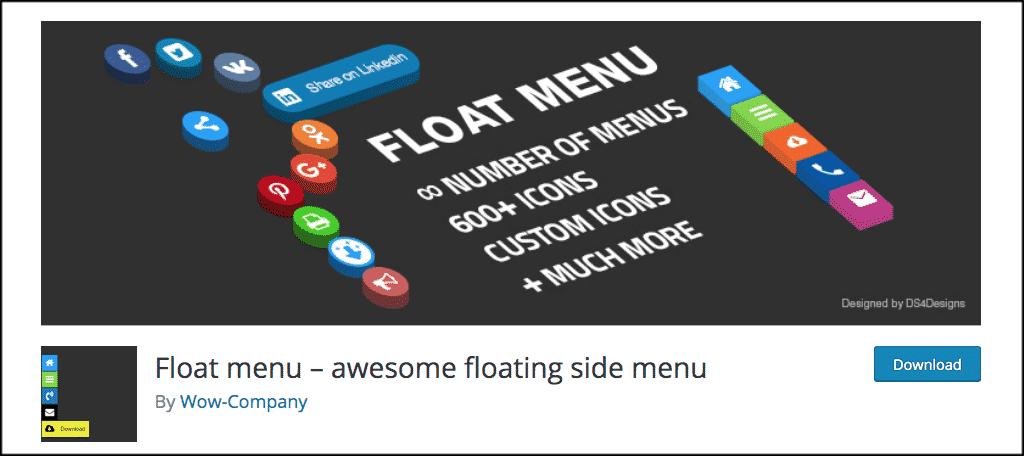Float Menu plugin