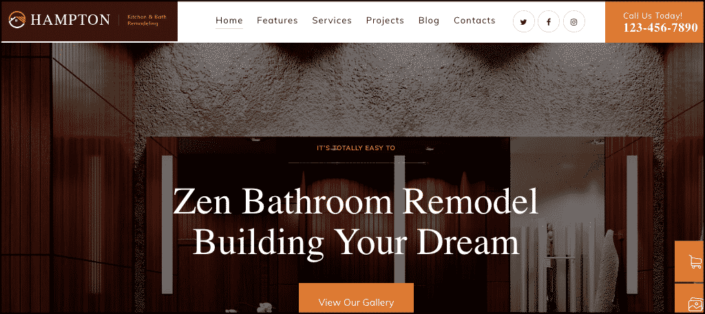 Hampton WordPress theme for renovation blog