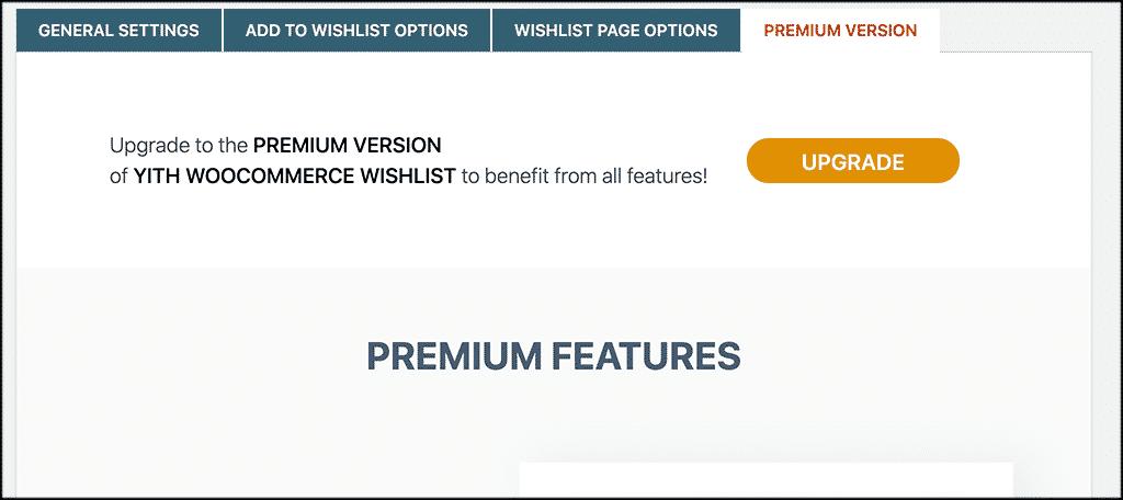 Premium options for woocommerce wishlist