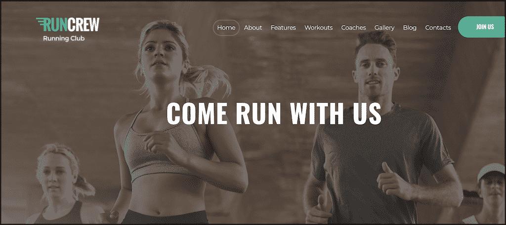 RunCrew theme for running blog