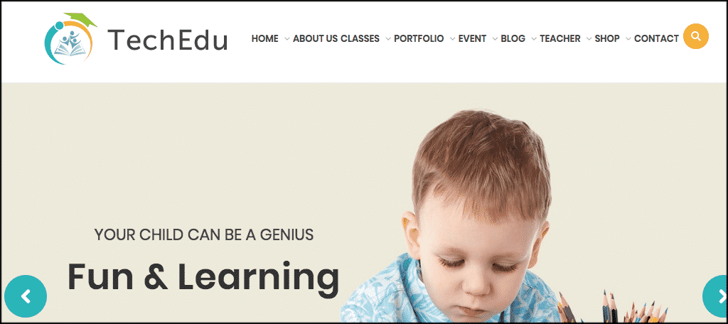 TechEdu WordPress theme for teacher blog