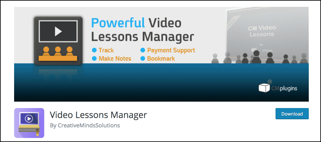 Video Lessons Manager teacher blog plugin