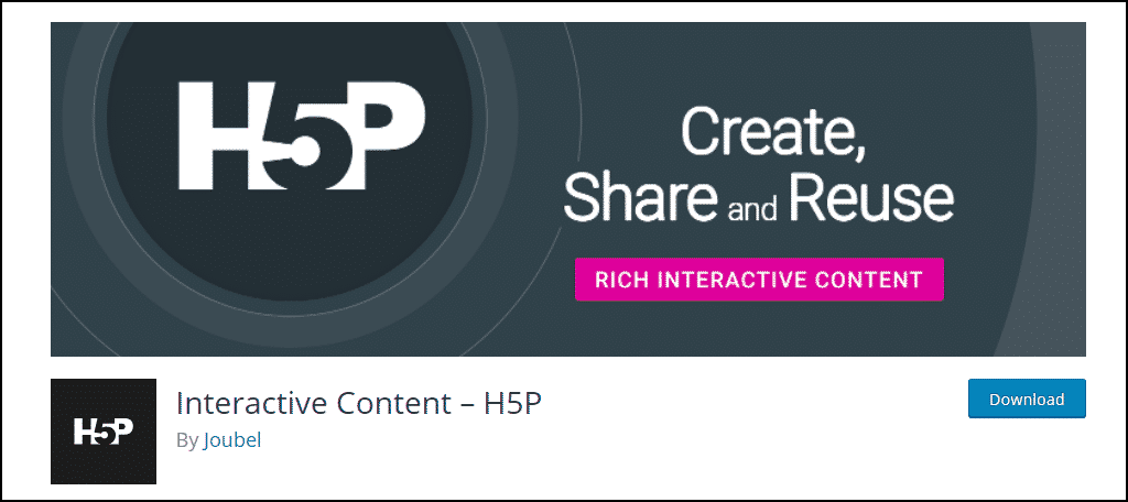 H5P Interactive Content WordPress plugin