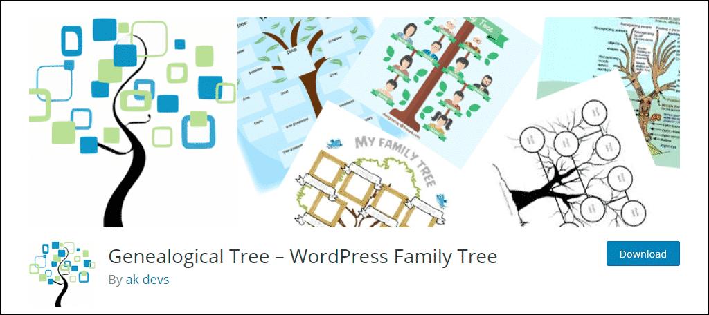 Genealogical Tree WordPress plugin