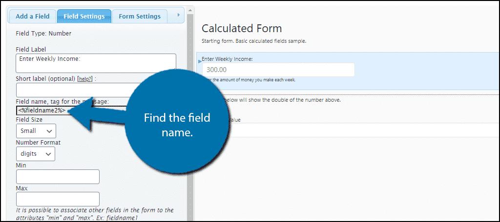 Field Name