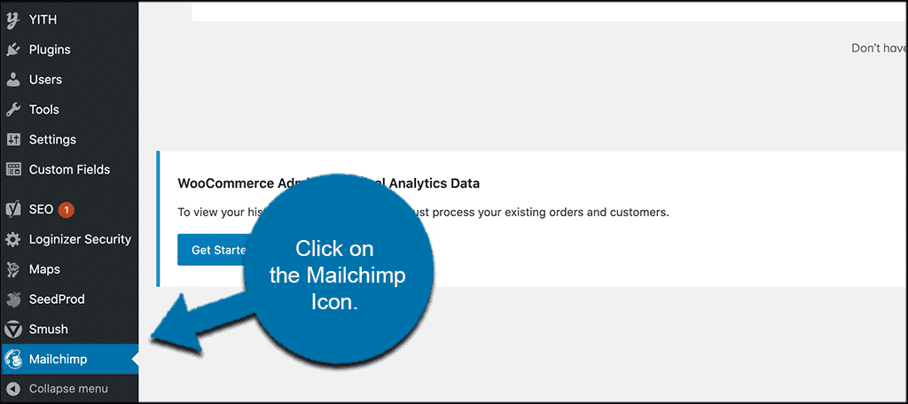 Click mailchimp link