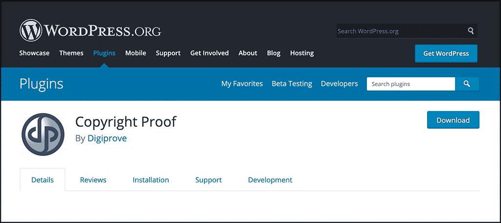 Copyright Proof plugin