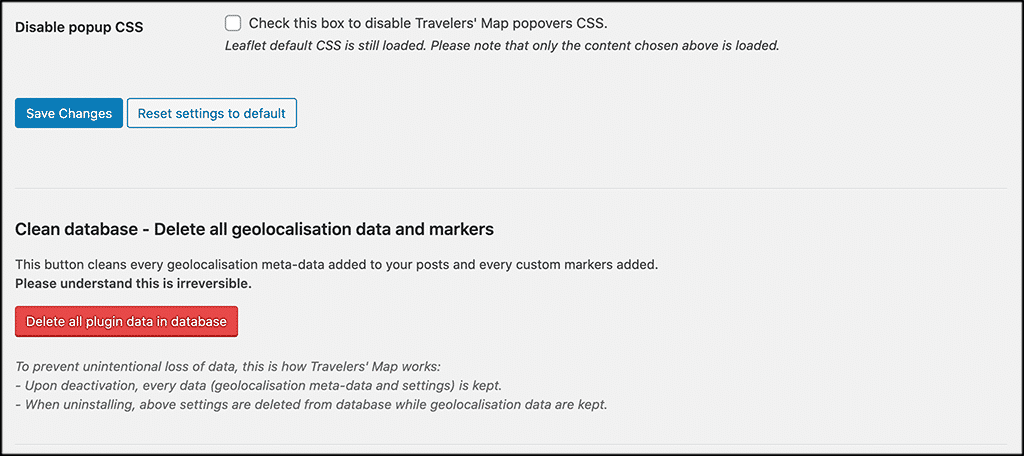 Disable CSS popup