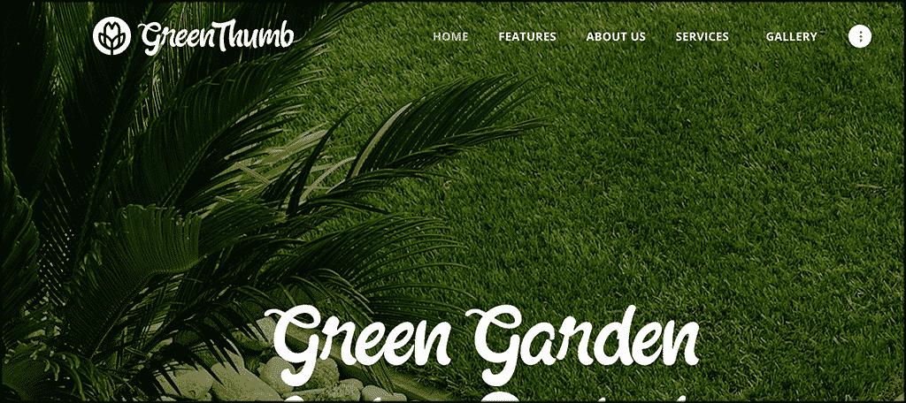 Green Thumb theme for gardening blog