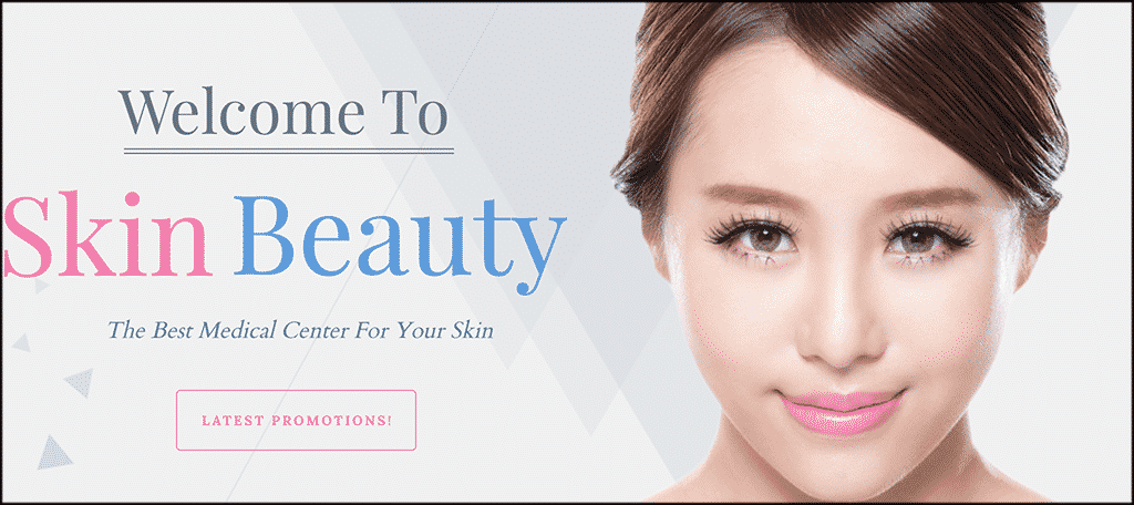 Skin beauty theme for skin care blog