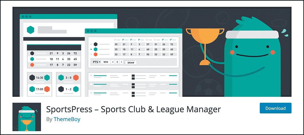 SportsPress plugin for sports blog