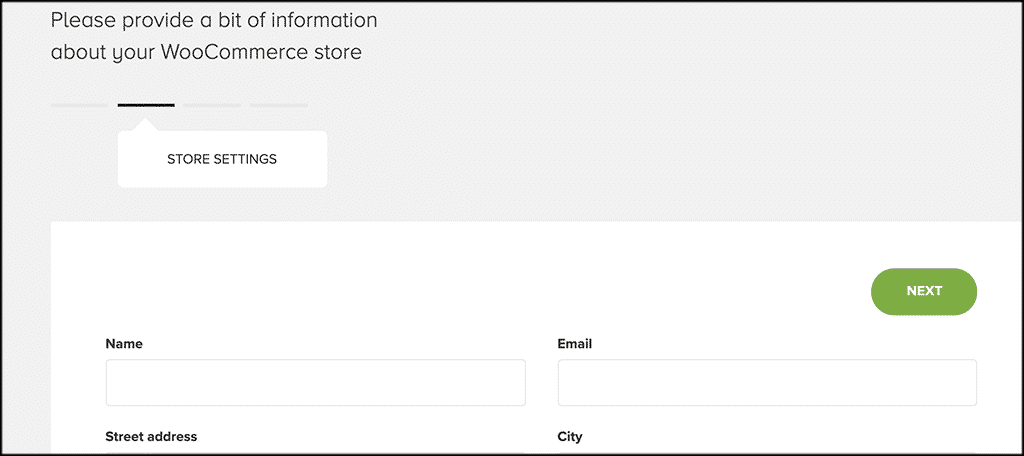 Store settings tab