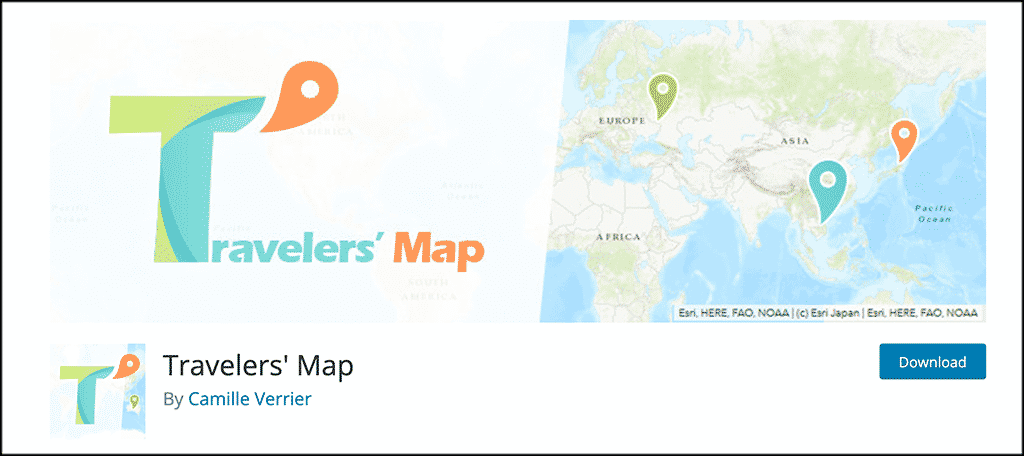 Travelers Map plugin