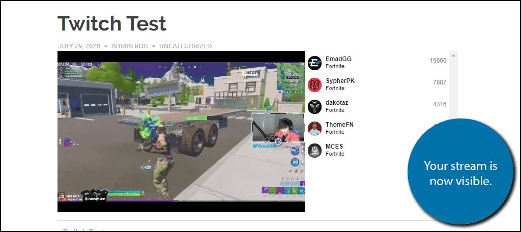 Twitch Livestream