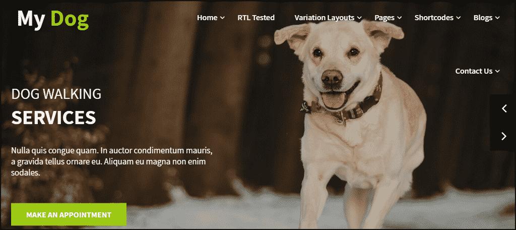 My Dog Lite WordPress theme