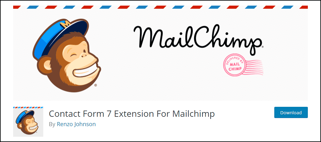 Contact Form 7 Extension For Mailchimp WordPress plugin