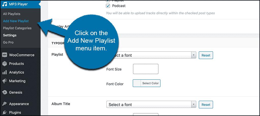 Add new playlist