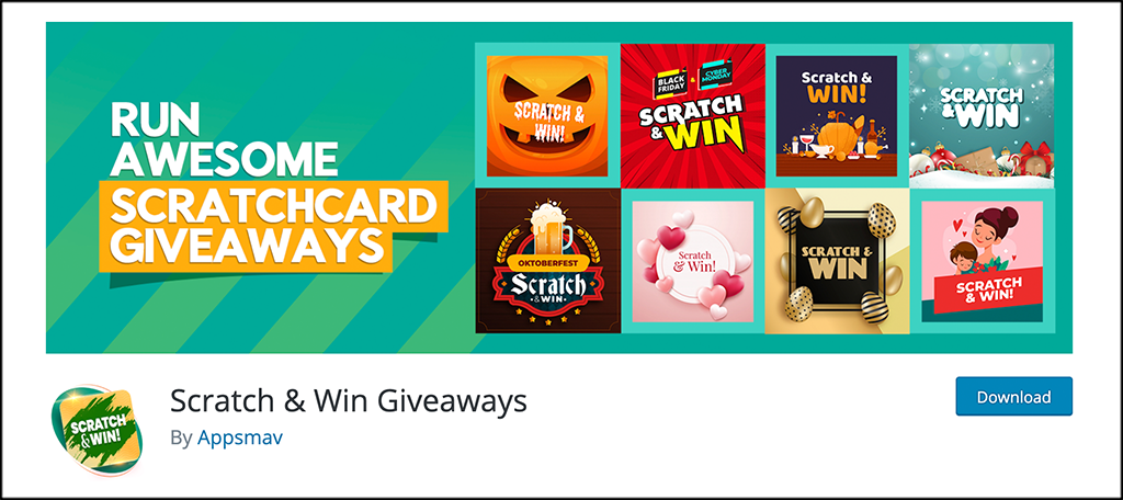 Scratch and Win Giveaways plugin