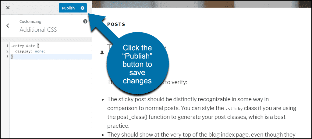 "click the ""Publish"" button"