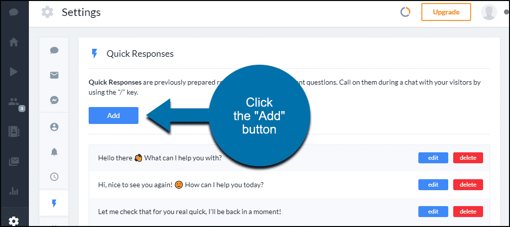 "Tidio WordPress plugin click the ""Add"" button"
