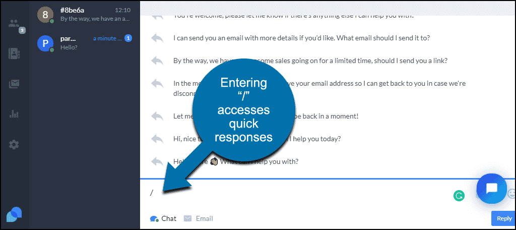 Tidio WordPress plugin bring up quick responses