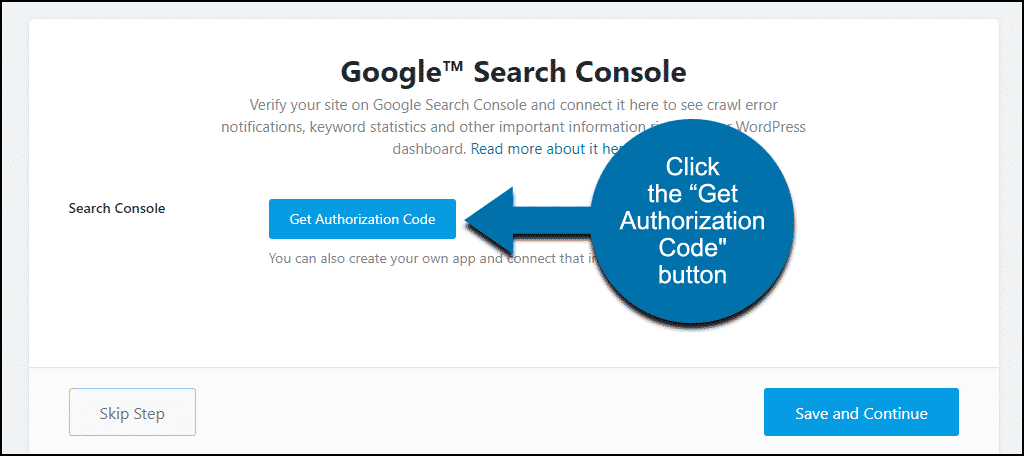 "Rank Math WordPress plugin click ""Get Authorization Code"" button"
