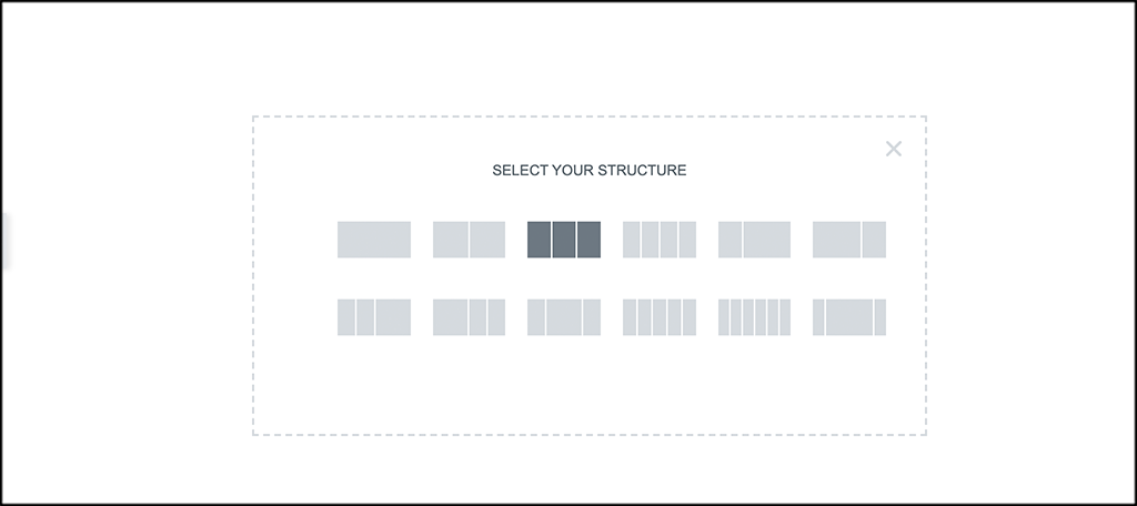 Add three column structure