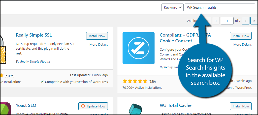 WP Search Insights