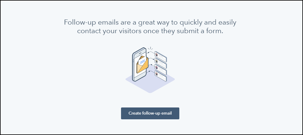 HubSpot CRM WordPress plugin create follow-up email
