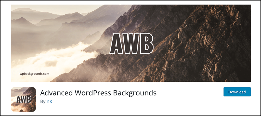 Advanced WordPress Backgrounds plugin