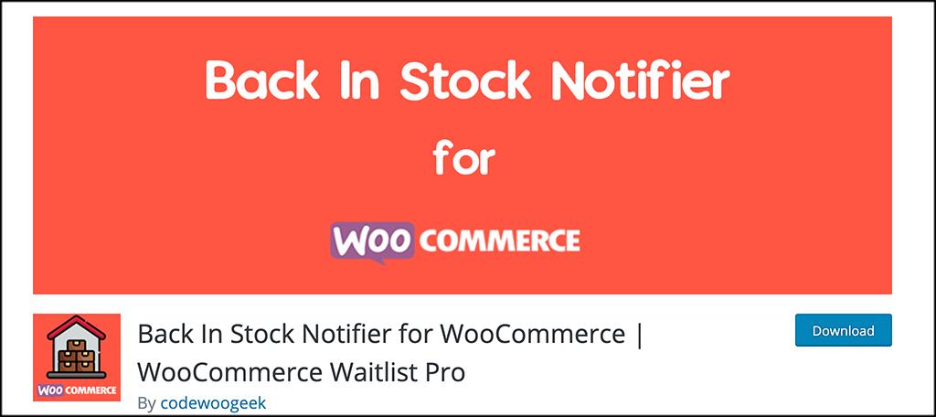 Back in Stock Notifier plugin