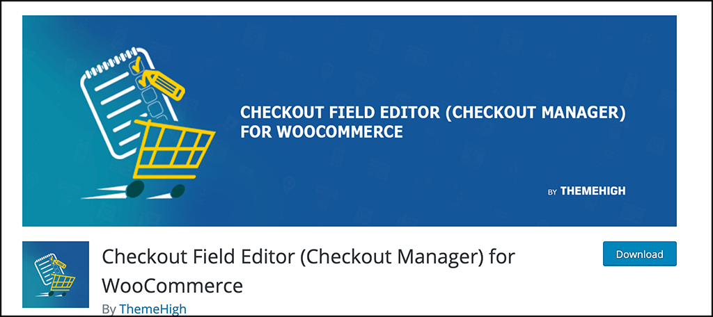 Checkout field editor plugin