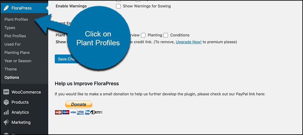 Click plant profiles