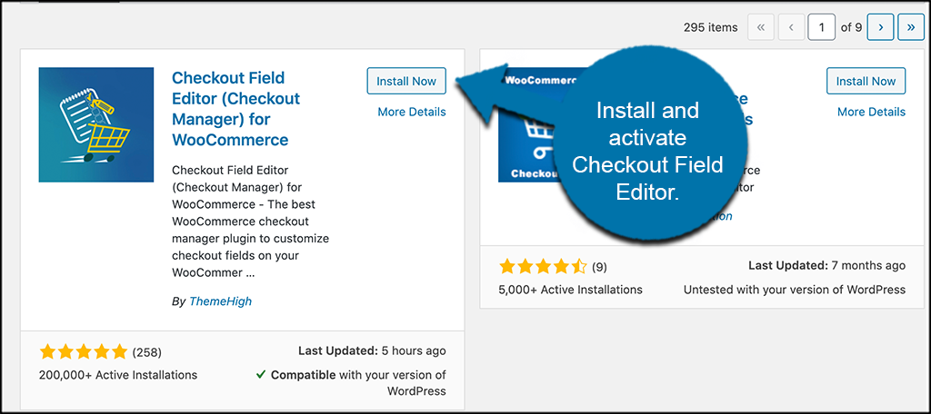 Install and activate the checkout field editor plugin