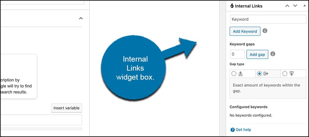Internal link juicer widget box