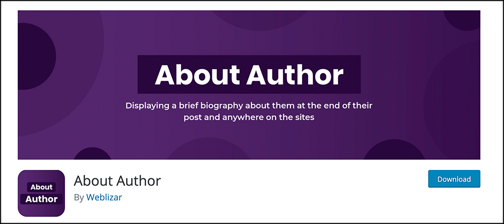 About Author plugin