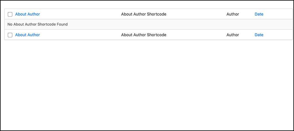 All shortcodes