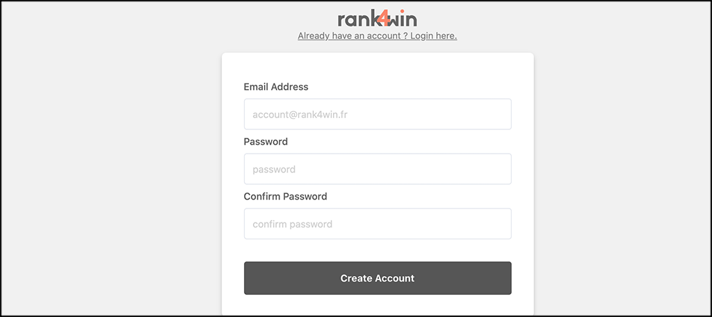 Enter account info