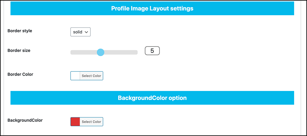 Layout color options