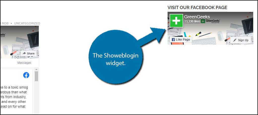 Showeblogin Widget