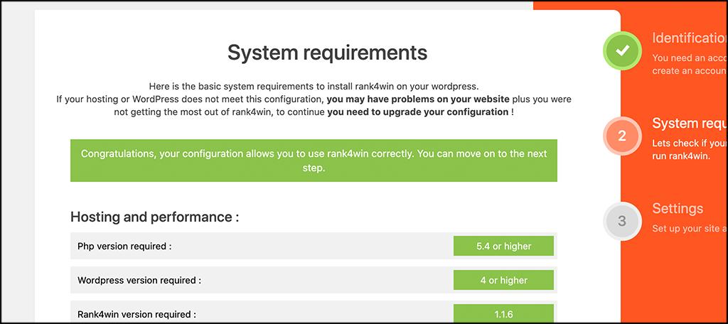 Rank4win system settings